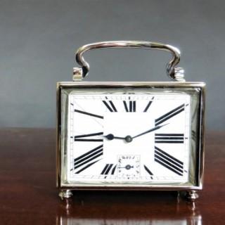 Art Deco Chrome Carriage Alarm Clock