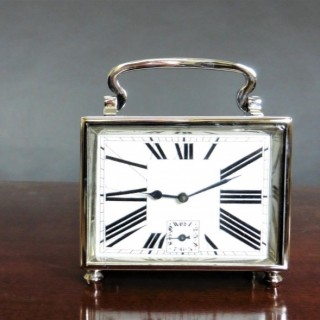 Art Deco Chrome Carriage Alarm Clock