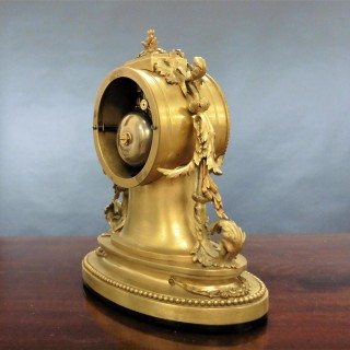 French Ormolu and Porcelain Panel Mantel Clock