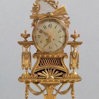 Large Gilt Wood Cartel Wall Clock