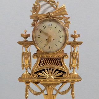 Large Gilt Wood Cartel Wall Clock