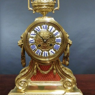 French Brass Bracket Clock