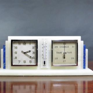 Art Deco Alabaster Compendium Set