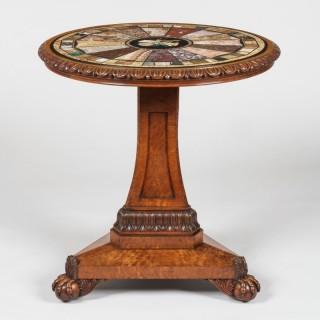 A 'Grand Tour' Specimen Marble Top Table
