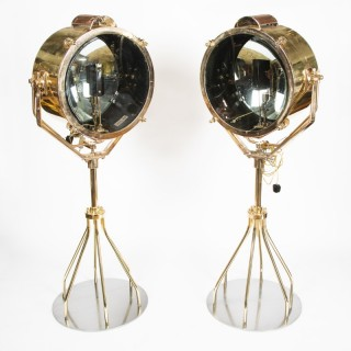 1930's bronze naval search lights by Francis of Bolton