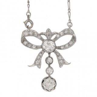 Belle Époque diamond pendant, French, circa 1910.