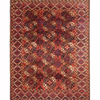 Handmade Red Wool Afghan Rug Classic Oriental Carpet- 225x285cm