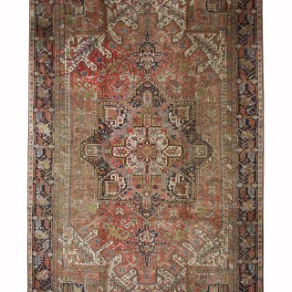Handwoven Persian Heriz Wool Rug Traditional Carpet Area Rug-287x390cm