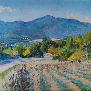 The Luberon from above Lourmarin by Frederick Gore CBE RA (1913 – 2009)