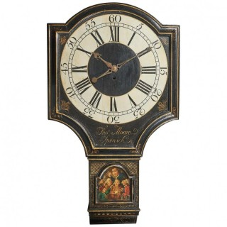 18th Century George II Tavern or Act of Parliament Clock, Circa 1740