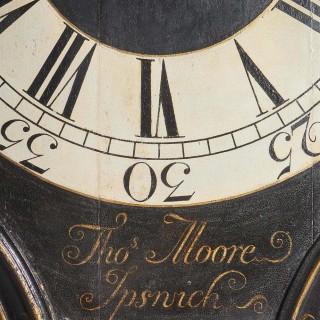 18th Century George II Tavern or Act of Parliament Clock, Circa 1740