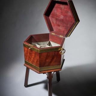 18th Century George III Mahogany Wine Cooler or Cellarette