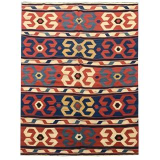 Antique Persian Wool Kilim Rug, Traditional Handwoven Carpet Area Rug- 173x254cm