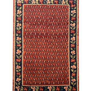 Antique Caucasian Karabagh Carpet Area Rug- 138x264cm