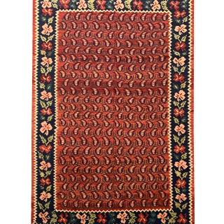 Antique Caucasian Karabagh Carpet Area Rug- 138x264cm