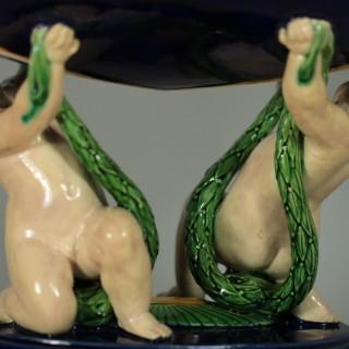Minton Majolica Putti Figural Bowl