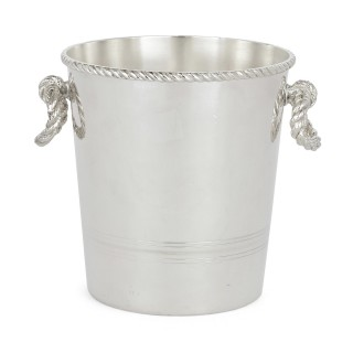 Fine Silver-Plate Ice Bucket by Lebanese Firm Habis