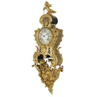 Antique French Belle Époque Rococo Style Bracket Clock by Henry Dasson