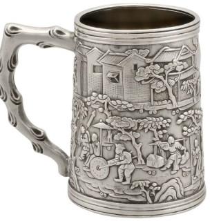 Chinese Export Silver Mug - Antique Circa 1820
