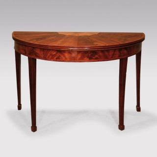 Late 18th Century Mahogany Card Table with SegmentedTop