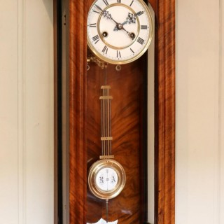 Walnut Vienna Spring Driven Regulator Wall Clock