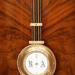 Walnut Vienna Spring Driven Regulator Wall Clock