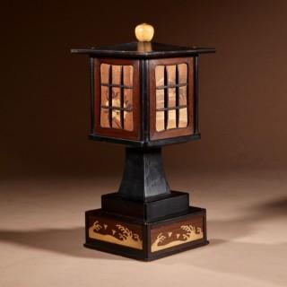 An Art Deco Interesting Japanese Cigarette Dispenser In the shape of a Lantern.