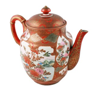 Japanese Kutani Porcelain Tea Pot
