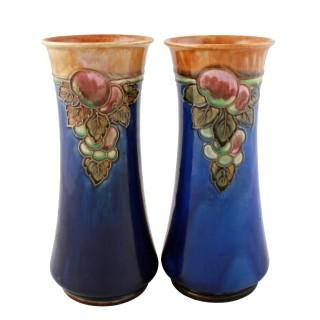 Pair of Royal Doulton Art Nouveau Vases