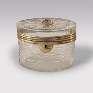 George III Cut Glass Tea Caddy