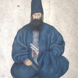 PORTRAIT OF A QAJAR MINISTER, PERSIA, 19TH CENTURY