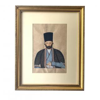 A FINE QAJAR PORTRAIT, PERSIA, 19TH CENTURY