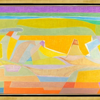 Le Desert Rouge  by  Othello Radou (1910 – 2006)