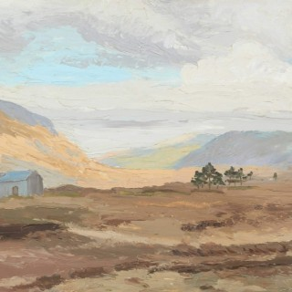 'Maam Cross Railway Station, Connemara' by Luke Dillon-Mahon (1917-1997)