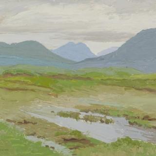 'Twelve Pins, Green Bog' by Luke Dillon-Mahon (1917-1997)