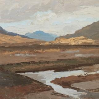 'Turf Bank, Maam Cross, Connemara' by Luke Dillon-Mahon (1917-1997)