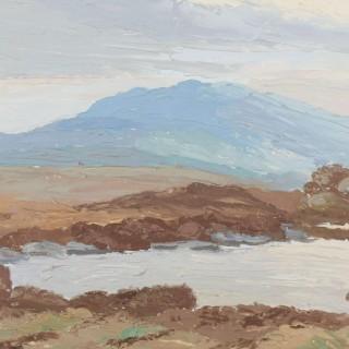 'Blue Mountain, near Maam Cross, Connemara I' by Luke Dillon-Mahon (1917-1997)