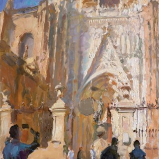 'Puerta de San Cristobal, Seville Cathedral' by Rob Pointon ROI (born 1982)