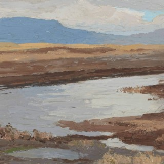 'Turf Bank and Water, Maam Cross, Connemara' by Luke Dillon-Mahon (1917-1997)