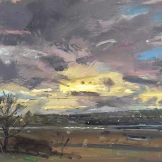 'Axe Valley Evening' by Richard Pikesley RWS PPNEAC (born 1951)