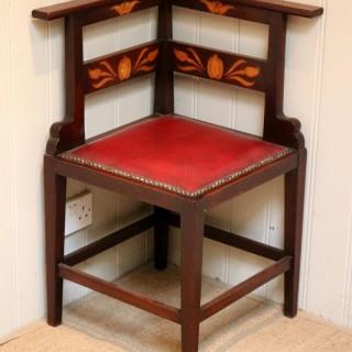 Mahogany Art Nouveau Corner Chair