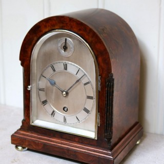 Burr Walnut Arch Top Bracket Clock