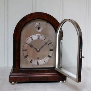 Burr Walnut Arch Top Bracket Clock