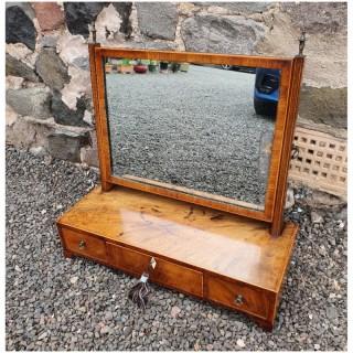 Georgian Mahogany & Inlaid Toilet Mirror