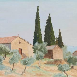 'Chiesa San Donata, Passignano, Umbria' by Luke Dillon-Mahon (1917-1997)