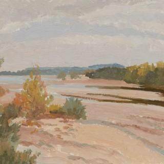 'Loire River Bed, France' by Luke Dillon-Mahon (1917-1997)