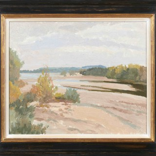 'Loire River Bed, France' by Luke Dillon-Mahon (1917-1997)