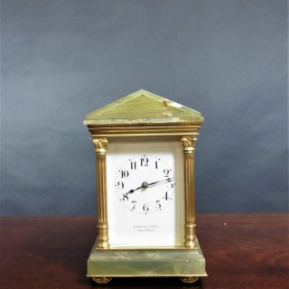 Victorian Carriage Clock signed Hampton & Sons, Pall Mall