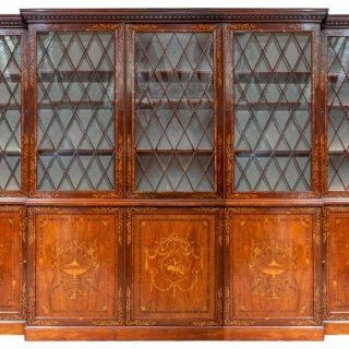 Fine Georgian Mahogany inlaid library bookcase, circa 1800