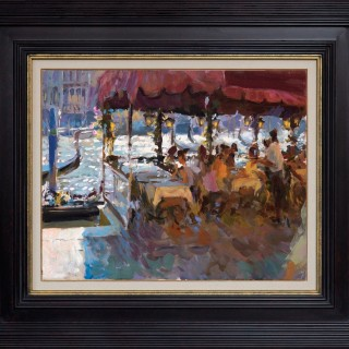 'Lunchtime by the Rialto' by Rob Pointon ROI  (born 1982)